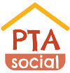 PTAsocial Logo and login button